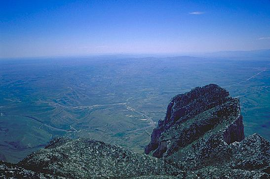 View from Guadalupe Peak, 1997.